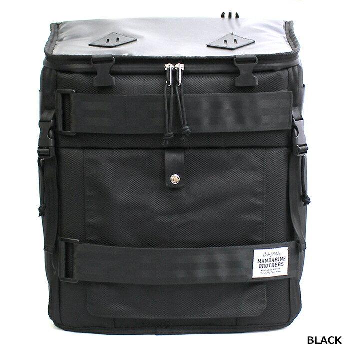 リュックバッグのカラーブラック正面アングル