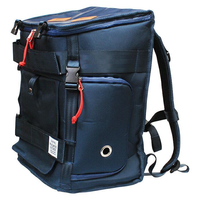 リュックバッグのカラーブルー正面アングル