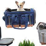 デニム生地の犬用キャリーバッグPR画像