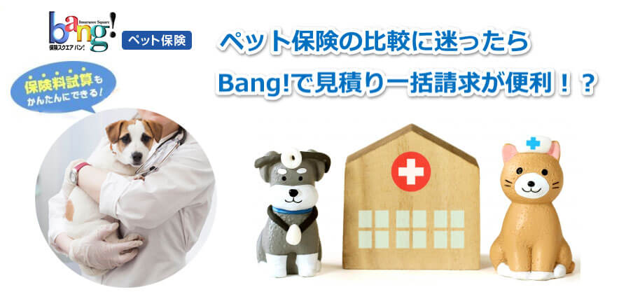 ペット保険比較サイトのPR画像